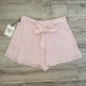 Aritzia Sunday Best Westley Pastel Pink Shorts 6